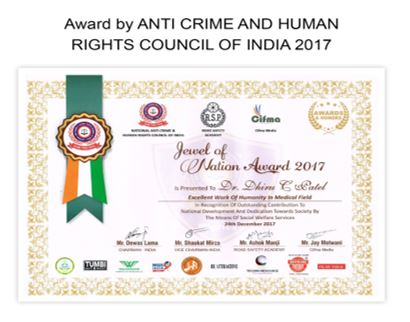 Awared by Anti-Crime & Human Rights Council